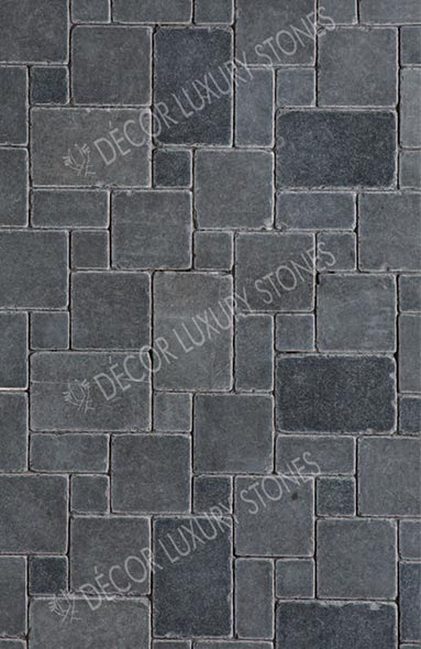 black-limestone-honed-antique-mosaic