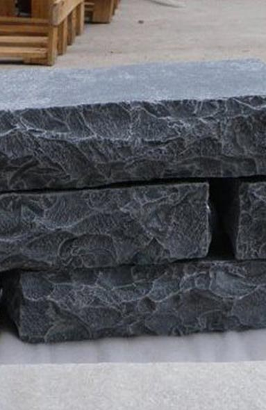 Blue Black Tumbled Walling Stone