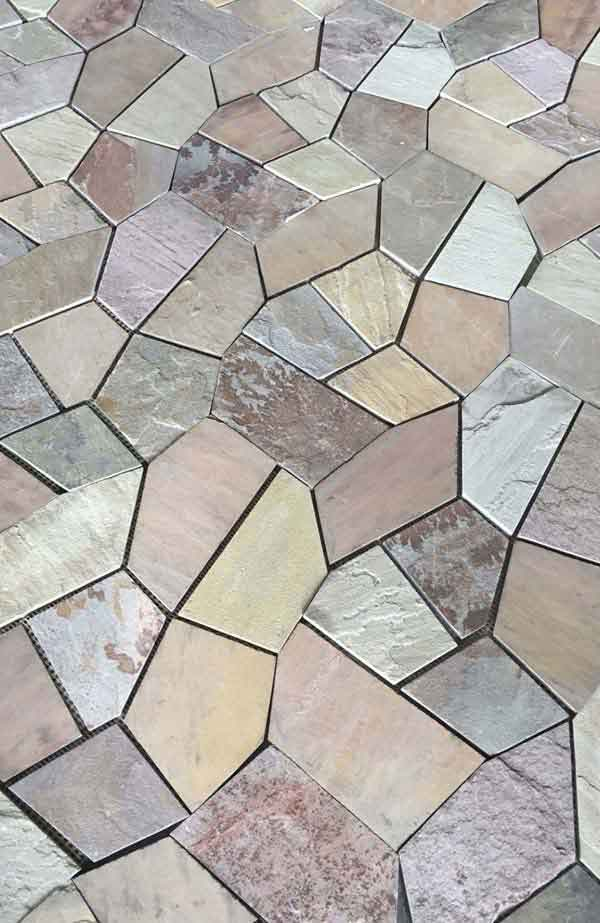 Multicolor Sandstone Crazy Paving