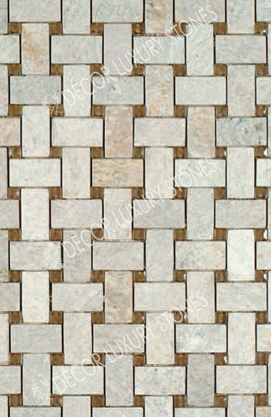 white-quartzite-mosaic-basket-weave