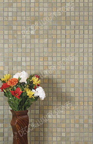 yellow-brown-limestone-mosaic